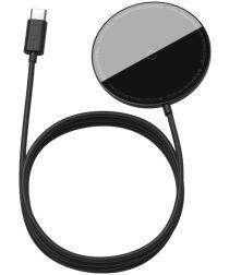 Baseus Simple 15W Draadloze Magnetische Oplader voor MagSafe Zwart