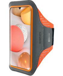 Mobiparts Comfort Fit Sport Armband Samsung Galaxy A42 Oranje