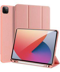 Dux Ducis Domo Apple iPad Pro 12.9 2021 Hoes Tri-Fold Book Case Roze
