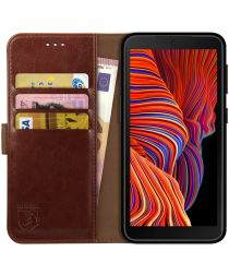 Rosso Element Samsung Galaxy Xcover 5 Hoesje Wallet Book Cover Bruin