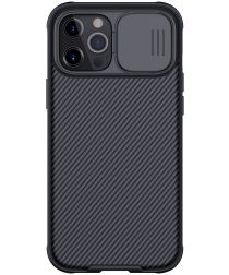 Nillkin CamShield iPhone 12 Pro Max MagSafe Hoesje Camera Slider Zwart