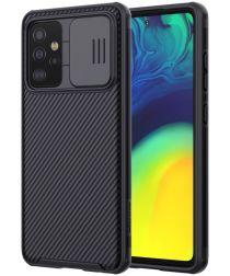 Nillkin Camshield Samsung Galaxy A52 Hoesje met Camera Slider Zwart