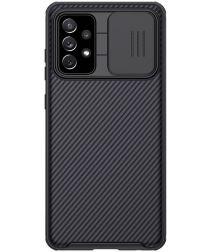Nillkin Camshield Samsung Galaxy A72 Hoesje met Camera Slider Zwart