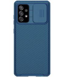 Nillkin Camshield Samsung Galaxy A72 Hoesje met Camera Slider Blauw