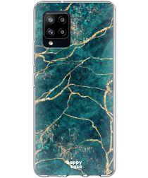 HappyCase Samsung Galaxy A42 Hoesje Flexibel TPU Aqua Marmer Print
