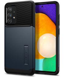 Spigen Slim Armor Samsung Galaxy A52 Hoesje Metal Slate