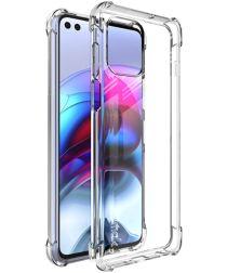 IMAK Motorola Moto G100 Hoesje TPU met Screen Protector Transparant