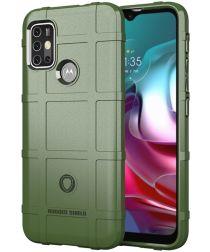 Motorola Moto G10 / G20 / G30 Hoesje Rugged Shield Back Cover Groen