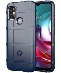 Motorola Moto G10 / G30 Hoesje Rugged Shield Back Cover Blauw