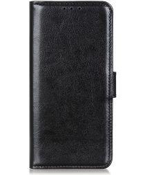 Motorola Moto G10 / G20 / G30 Hoesje Vintage Book Case Kunstleer Zwart