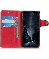Google Pixel 5a Hoesje met Pasjes Book Case Kunstleer Rood