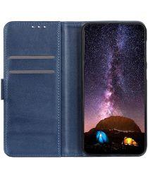 Google Pixel 5a Hoesje Portemonnee Kunstleer Book Case Blauw