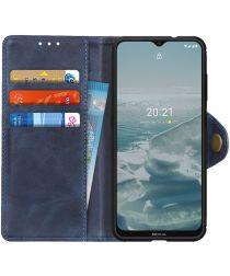 Nokia 6.3 / G10 / G20 Hoesje Portemonnee Kunstleer Book Case Blauw