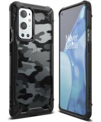 Ringke Fusion X OnePlus 9 Pro Hoesje Back Cover Camo Zwart