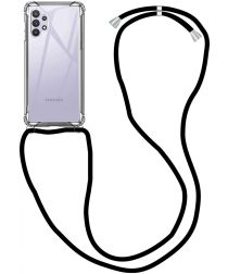 Samsung Galaxy A32 5G Hoesje met Koord Shockproof TPU Transparant