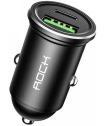 ROCK Universele USB / USB-C PD 20W Fast Charge Autolader Zwart