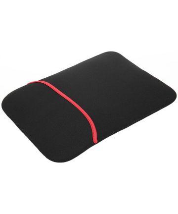 Neopreen Sleeve voor Laptop / iPad / Tablet hoes tot 15.6 Inch Zwart Hoesjes