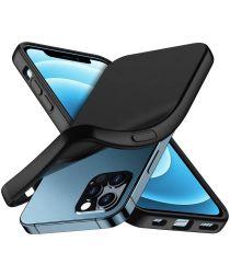 Apple iPhone 12 / 12 Pro Hoesje Flexibel en Dun TPU Zwart