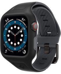 Spigen Liquid Air Pro Apple Watch 44MM Hoesje met Band Siliconen Zwart
