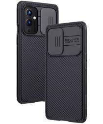 Nillkin CamShield OnePlus 9 Hoesje met Camera Slider Back Cover Zwart
