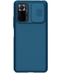 Nillkin CamShield Xiaomi Redmi Note 10 Pro Hoesje Camera Slider Blauw