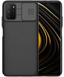 Nillkin CamShield Xiaomi Poco M3 Hoesje met Camera Slider Zwart