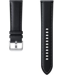 Origineel Samsung Universeel Smartwatch 20MM Bandje Premium Leer Zwart