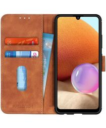 Samsung Galaxy A32 4G Hoesje Wallet Book Case Kunstleer Bruin