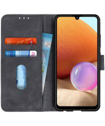Samsung Galaxy A32 4G Hoesje Wallet Book Case Kunstleer Zwart