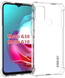 Motorola Moto G10/G30 Hoesje Schokbestendig TPU Back Cover Transparant