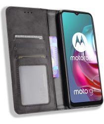 Motorola Moto G10/G20/G30 Hoesje Vintage Portemonnee Book Case Zwart