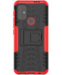 Motorola Moto G10/G20/G30 Hoesje Hybride Back Cover Kickstand Rood