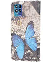 Motorola Moto G100 Hoesje Wallet Book Case met Butterfly Print