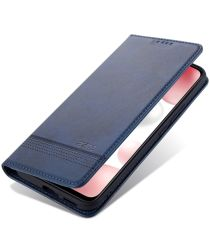 AZNS Xiaomi Mi 11 Hoesje Portemonnee Book Case Kunstleer Blauw