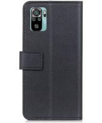 Xiaomi Redmi Note 10 / 10S Hoesje Wallet Book Case met Stand Zwart