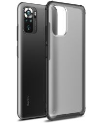 Xiaomi Redmi Note 10 / 10S Hoesje Hybride Mat Transparant Zwart