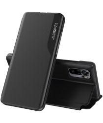 Xiaomi Redmi Note 10 / 10S Hoesje View Book Case Hoesje Zwart