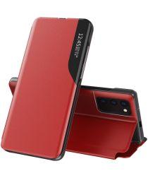 Xiaomi Redmi Note 10 / 10S Hoesje View Book Case Hoesje Rood