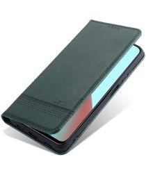 Xiaomi Redmi Note 10 / 10S Hoesje Portemonnee Book Case Groen