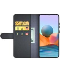 Xiaomi Redmi Note 10 Pro Hoesje Wallet Book Case Echt Leer Bruin
