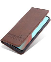 Xiaomi Redmi Note 10 Pro Hoesje Portemonnee Book Case Coffee