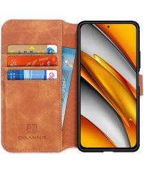 DG Ming Xiaomi Poco F3 Hoesje Retro Wallet Book Case Bruin