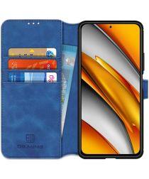 DG Ming Xiaomi Poco F3 / Mi 11i Hoesje Retro Wallet Book Case Blauw