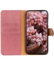 KHAZNEH Alcatel 1S / 3L (2021) Hoesje Wallet Retro Book Case Roze