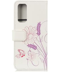 Oppo Find X3 Lite Hoesje Portemonnee Book Case met Bloem Print