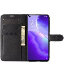 Oppo Find X3 Lite Hoesje Wallet Book Case met Pasjes Zwart