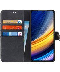 Oppo Find X3 Pro Hoesje Portemonnee Book Case Drukknoop Sluiting Zwart