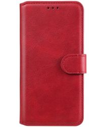 Oppo A54 5G Hoesje Portemonnee Book Case Kunstleer Rood