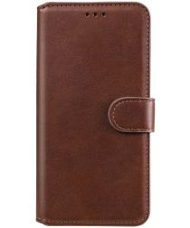 Oppo A54 5G Hoesje Portemonnee Book Case Kunstleer Bruin