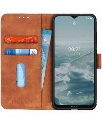 KHAZNEH Nokia 6.3 / G10 / G20 Hoesje Retro Wallet Book Case Bruin